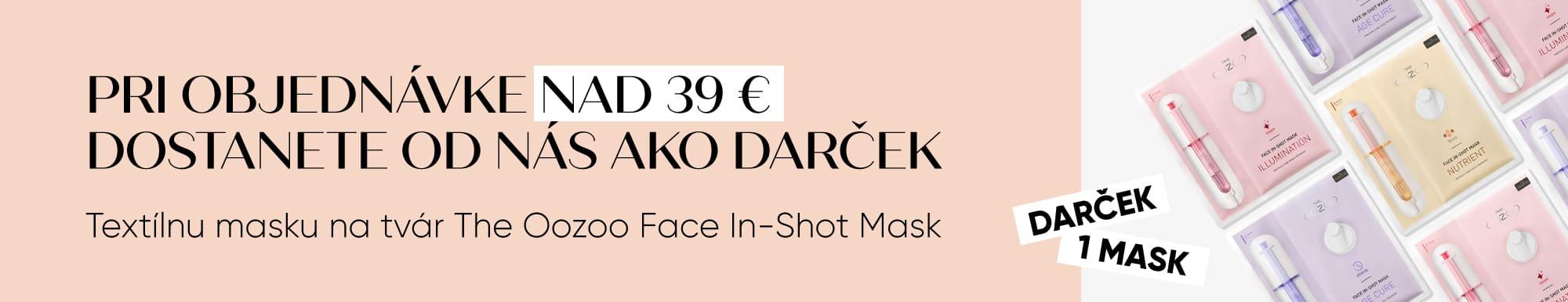 Pri objednávke nad 39 € dostanete od nás ako darček Тextílna maska na tvár The Oozoo