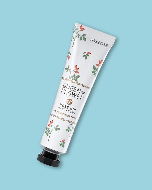Krém na suchú pokožku rúk so šípkovým olejom Around Me Queen Of Flower Rosehip Hand Cream