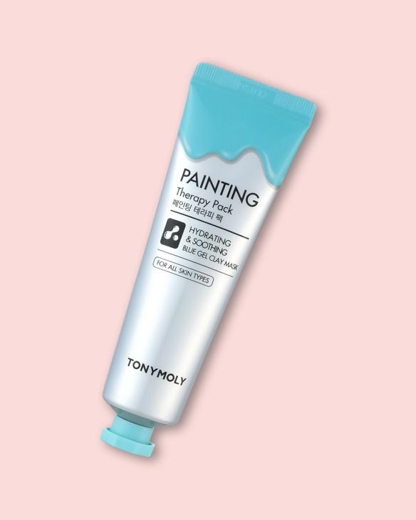 Hydratačná a upokojujúca maska na tvár s modrou hlinkou Painting Therapy Pack Hydrating & Calming Blue Color Gel Clay