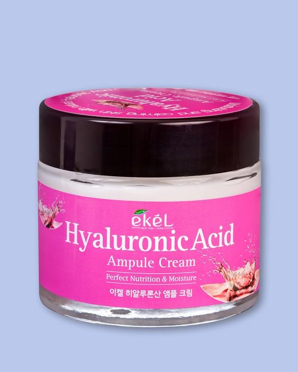 Ekel Hydratačný krém na tvár s kyselinou hyalurónovou Ampule Cream Hyaluronic Acid
