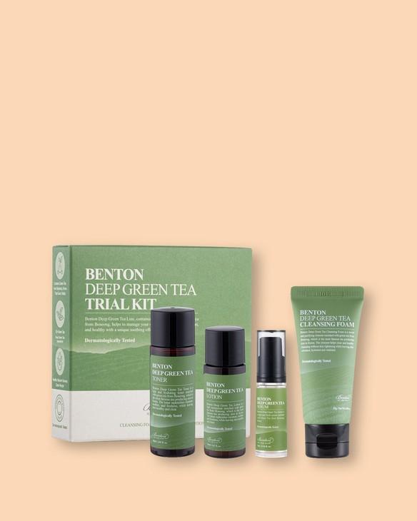 Benton Zestaw miniaturek zielonej herbaty Deep Green Tea Trial Kit