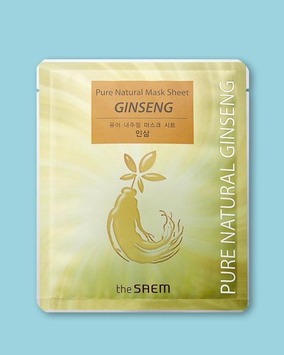 Textilná maska na tvár na báze extraktu zo ženšenu Pure Natural Mask Sheet Ginseng