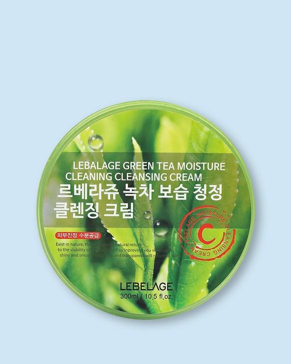 Čistiaci a zvlhčujúci krém s extraktom zo zeleného čaju Green Tea Moisture Cleaning Cleansing Cream