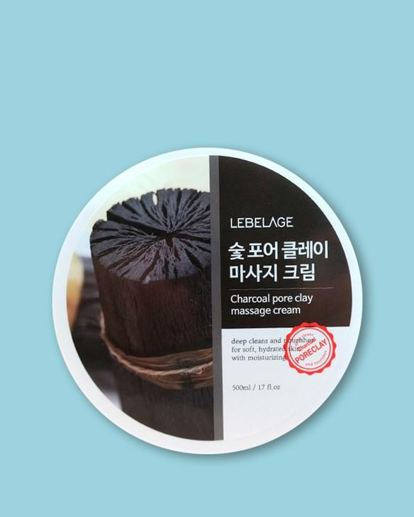 Lebelage Čistiaci masážny krém na póry s dreveným uhlím Charcoal Pore Clay Massage Cream
