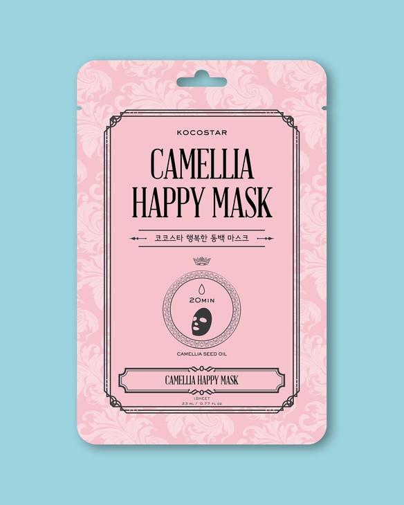 Hydratačná textílna maska na tvár Camellia Happy Mask