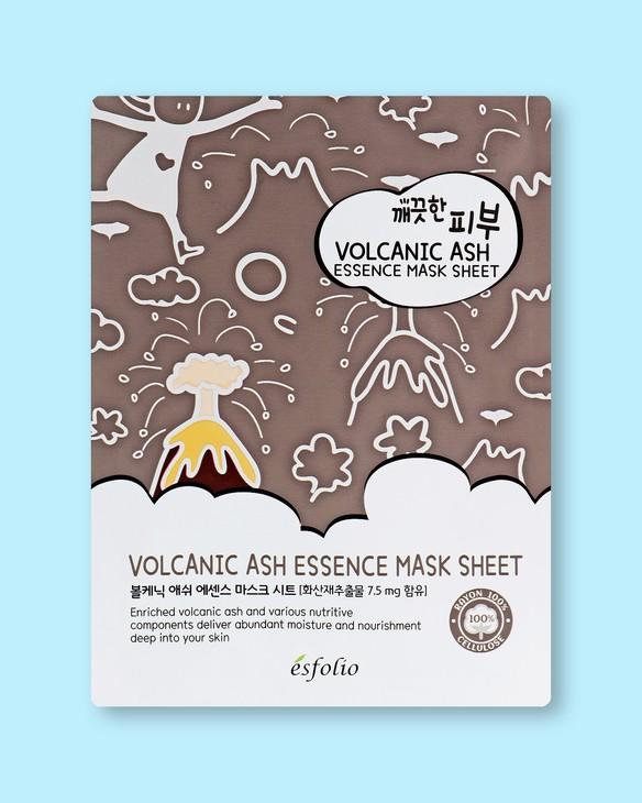 Textílna maska na tvár s vulkanickým popolom Pure Skin Volcanic Ash Essence Mask Sheet