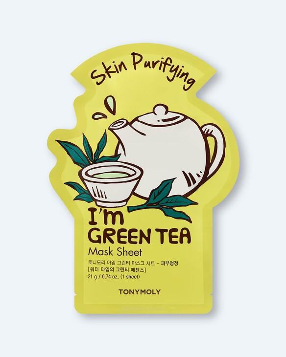 Tony Moly Textílna maska na tvár I'm Green Tea Mask Sheet