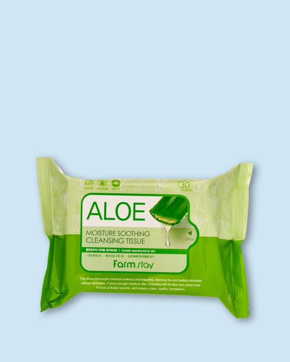 Farmstay Čistiace vreckovky a tvár Aloe Moisture Soothing Cleansing Tissue