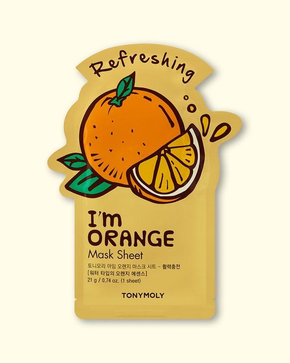 Textílna maska na tvár I'm Orange Mask Sheet