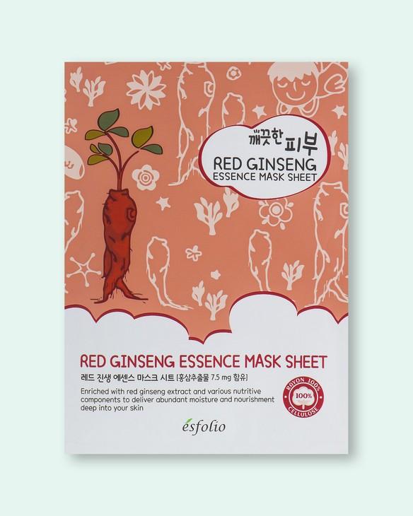 Esfolio Textílna maska na tvár s extraktom červeného ženšenu Pure Skin Red Ginseng Essence Mask Sheet