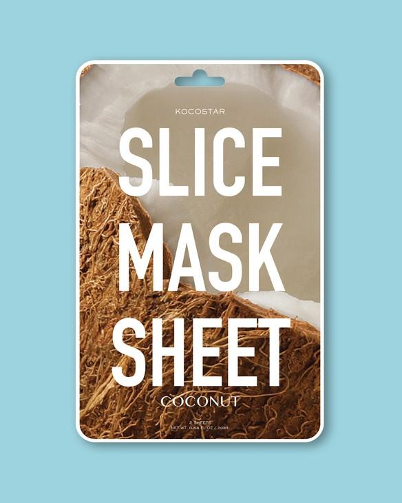 Kocostar Textílna maska na tvár Slice Mask Sheet Coconut