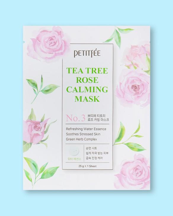 Upokojujúca textílna maska na tvár Tea Tree Rose Calming Mask