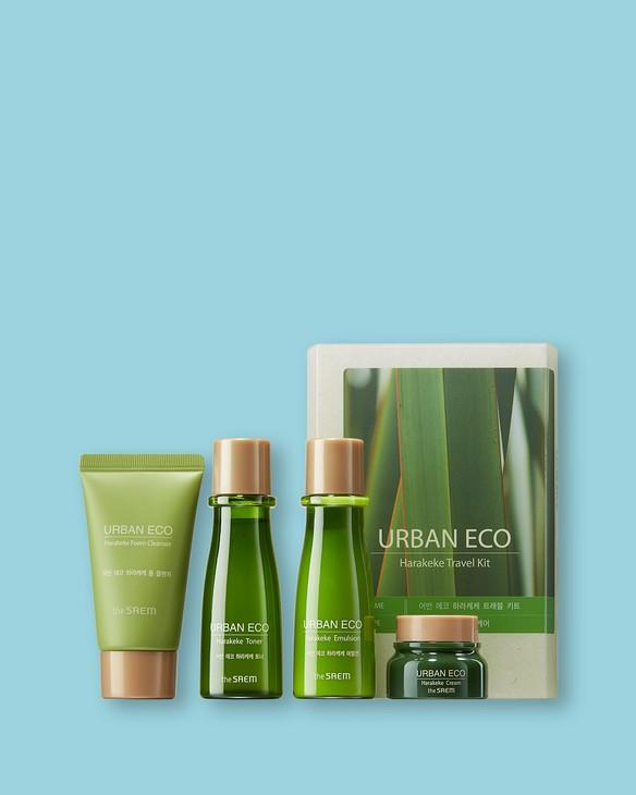 The Saem Podróżny zestaw kosmetyczny do twarzy Urban Eco Harakeke Travel 4 Kit