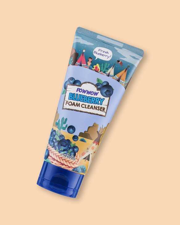 Čistiaca pena s extractom čučoriedky Powwow Blueberry Foam Cleanser