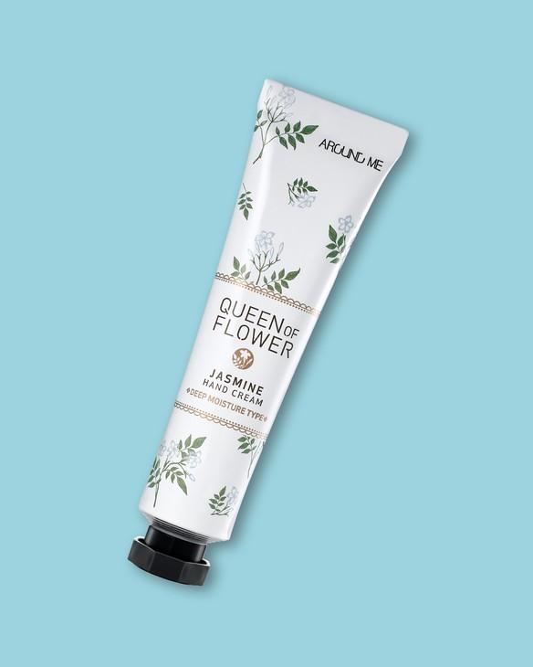 Welcos Krém na veľmi suchú pokožku rúk s výťažkom z jazmínu Around Me Queen Of Flower Jasmine Hand Cream