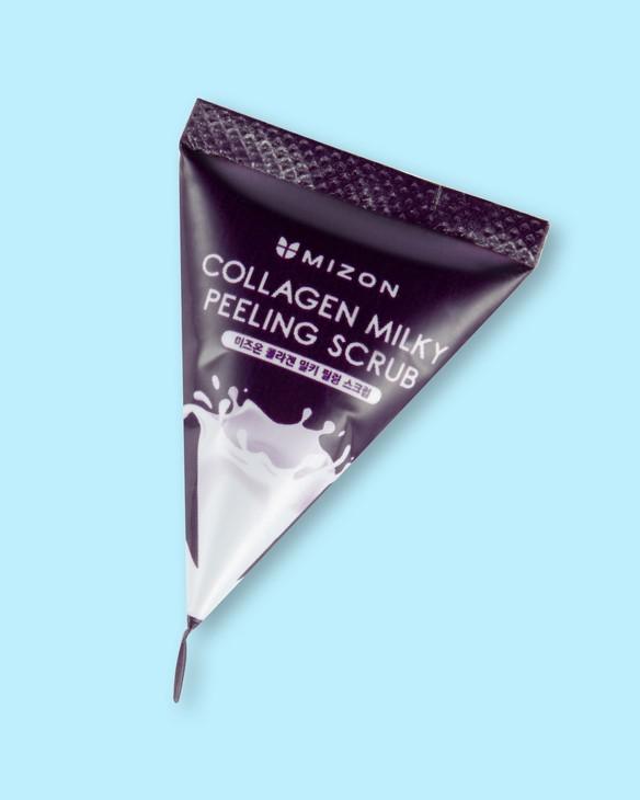 Mizon Kolagénový mliečny peelingový gél Collagen Milky Peeling Scrub